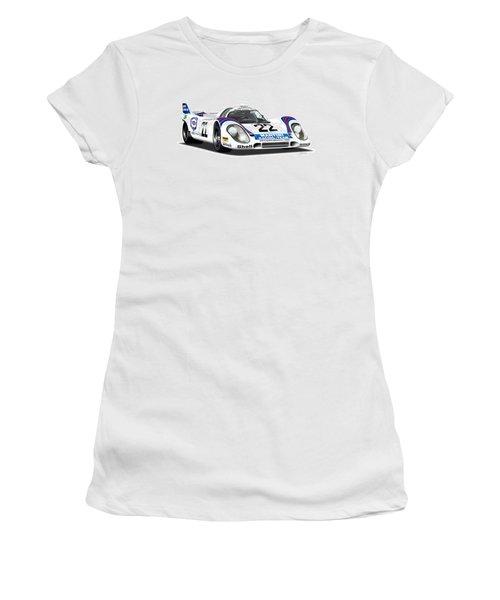 Porsche 917 Illustration Women's T-Shirt (Junior Cut) by Alain Jamar