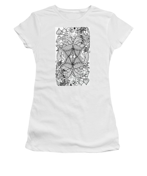Queen Of Spades 2 Women's T-Shirt (Athletic Fit)