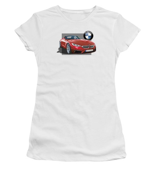 Red 2018 B M W  Z 5 With 3 D Badge  Women's T-Shirt