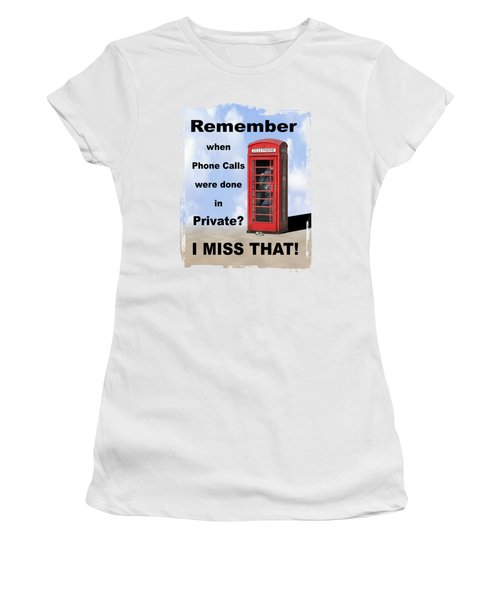 Women's T-Shirt (Junior Cut) featuring the photograph Remember When . . . by Mike McGlothlen
