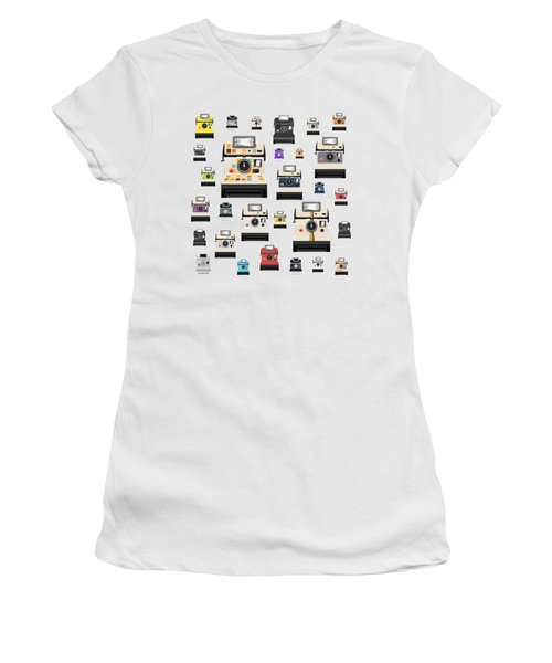 Women's T-Shirt (Junior Cut) featuring the painting Retro Camera by Setsiri Silapasuwanchai
