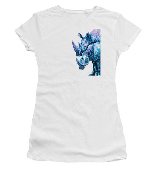 Rhinoceros Couple Women's T-Shirt