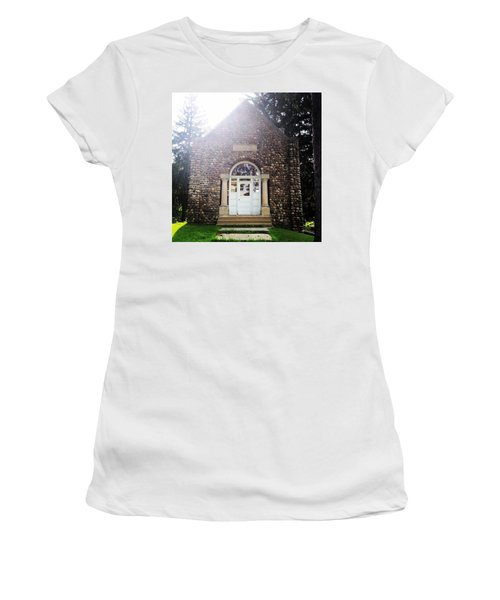 Riverside Cemetery Chapel Women's T-Shirt (Athletic Fit)