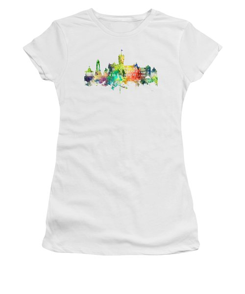 Rutherglen Scotland Skyline Women's T-Shirt (Junior Cut) by Marlene Watson