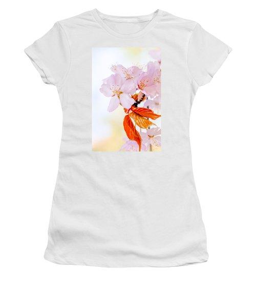 Women's T-Shirt (Junior Cut) featuring the photograph Sakura - Japanese Cherry Blossom by Alexander Senin