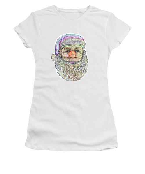 Santa Women's T-Shirt (Junior Cut) by Ludwig Keck