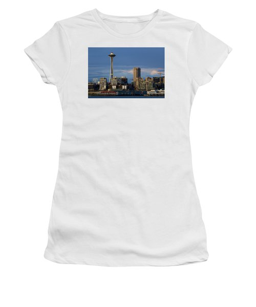 Space Needle Women's T-Shirt (Junior Cut) by Evgeny Vasenev