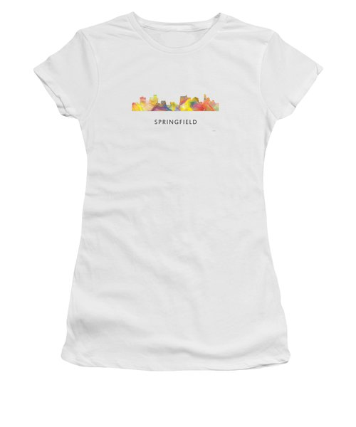 Springfield Illinois Skyline Women's T-Shirt
