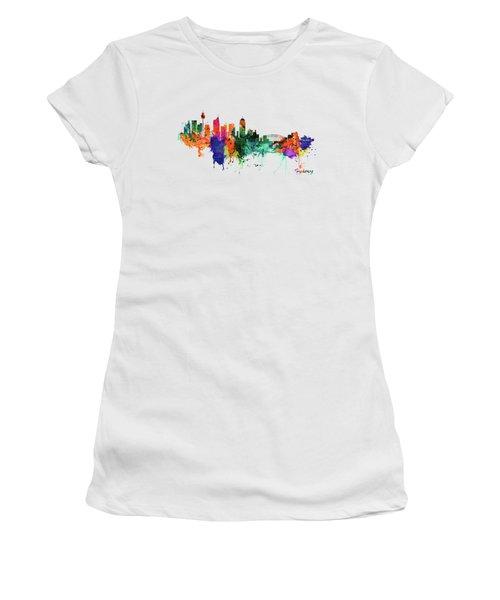 Sydney Watercolor Skyline  Women's T-Shirt