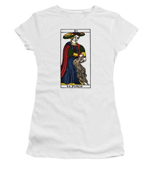 Tarot Card Strength Women's T-Shirt (Junior Cut) by Granger