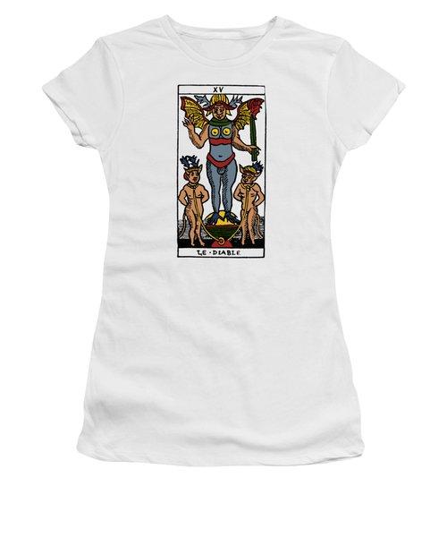 Tarot Card The Devil Women's T-Shirt (Junior Cut) by Granger