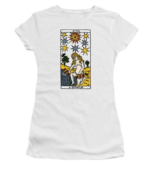 Tarot Card The Stars Women's T-Shirt (Junior Cut) by Granger