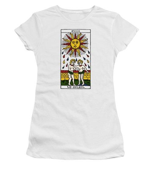 Tarot Card The Sun Women's T-Shirt (Junior Cut) by Granger