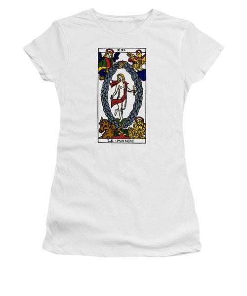 Tarot Card The World Women's T-Shirt
