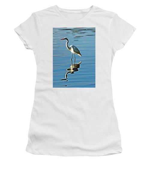 The Egret Women's T-Shirt (Athletic Fit)