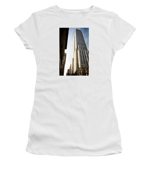 Women's T-Shirt (Junior Cut) featuring the photograph The Empire State Building by Sabine Edrissi