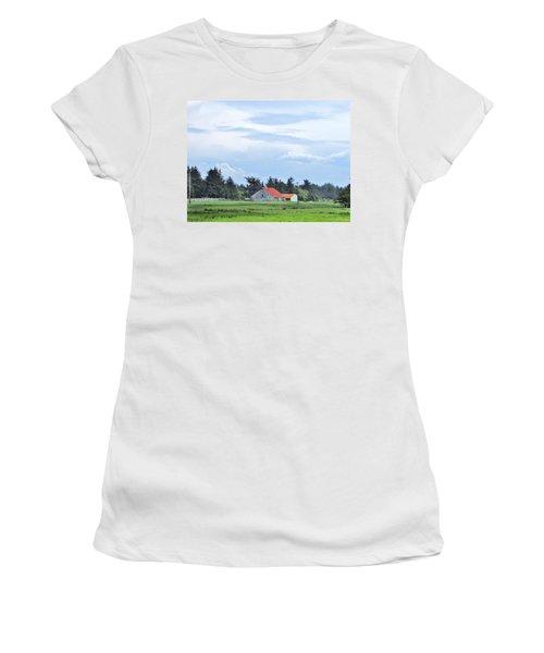 The Farm Women's T-Shirt (Junior Cut) by Marilyn Diaz