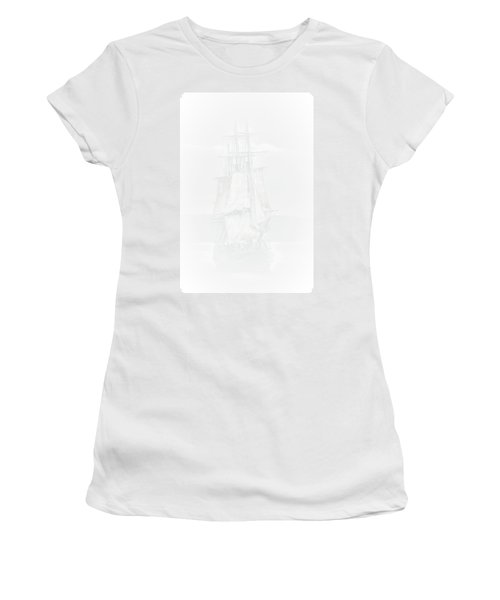 The Ghost Ship Women's T-Shirt (Junior Cut) by David Patterson
