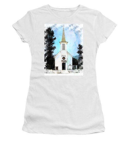 The Little White Church In Elbe Women's T-Shirt (Junior Cut) by Joseph Hendrix