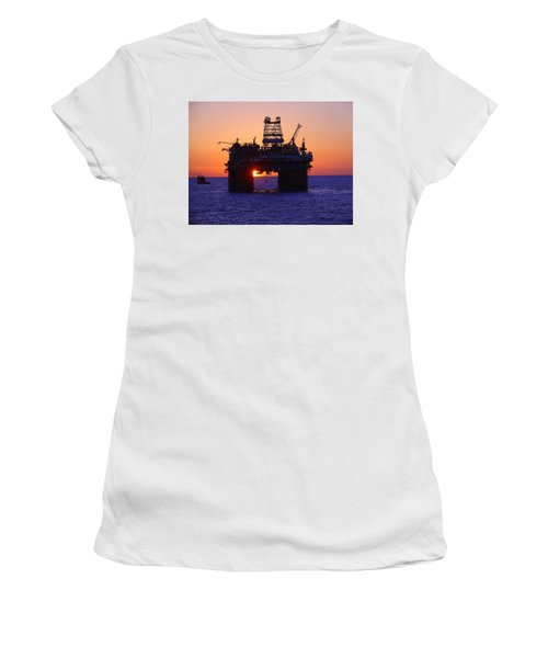 Thunder Horse At Sunset Women's T-Shirt (Athletic Fit)