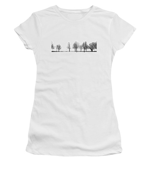 Women's T-Shirt (Junior Cut) featuring the photograph Trees by Chevy Fleet