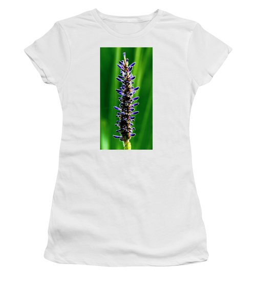Women's T-Shirt (Athletic Fit) featuring the photograph Water Plant 3 by Buddy Scott
