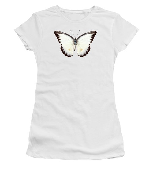 White Butterfly Species Appias Lyncida Women's T-Shirt (Athletic Fit)