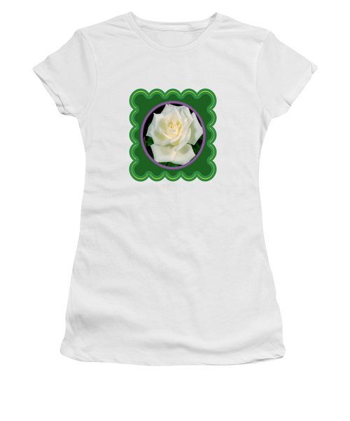 White Rose Flower Floral Posters Photography And Graphic Fusion Art Navinjoshi Fineartamerica Pixels Women's T-Shirt