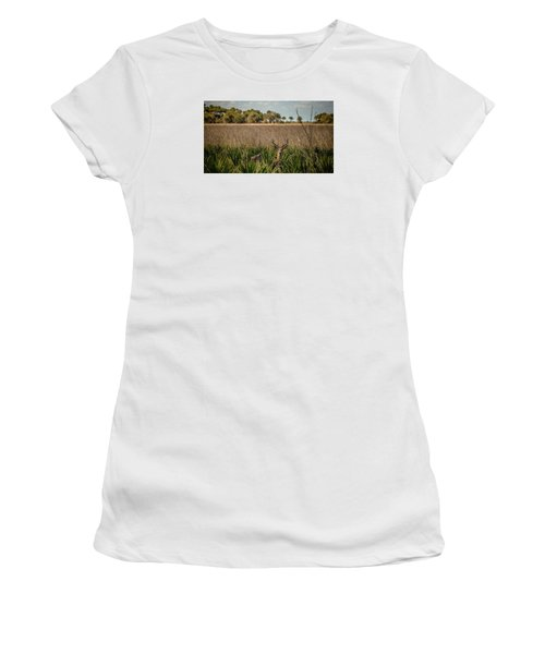 White Tail  Women's T-Shirt (Athletic Fit)