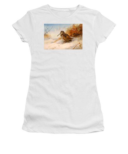 Winter Woodcock Women's T-Shirt