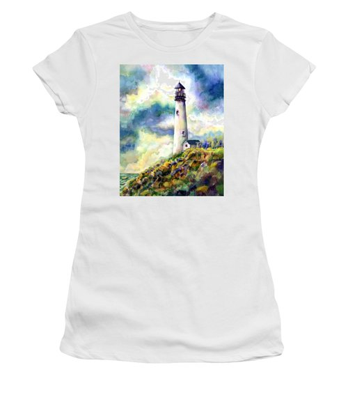 yaquina Head Lighthouse Women's T-Shirt (Athletic Fit)