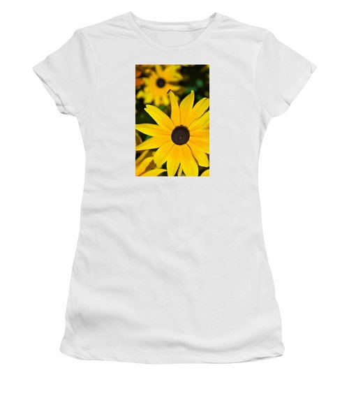 Women's T-Shirt (Junior Cut) featuring the photograph Yellow Flowers by Bob Pardue