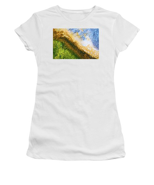 Yellowstone Abstract Women's T-Shirt (Athletic Fit)