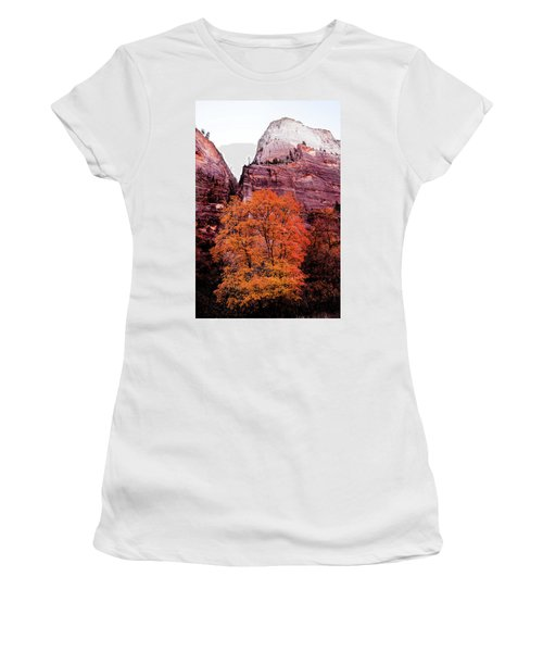 Women's T-Shirt (Athletic Fit) featuring the photograph Zion National Park by Norman Hall