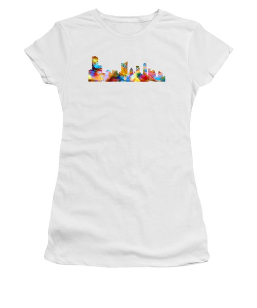 Austin Texas Skyline Women's T-Shirt (Junior Cut) by Marlene Watson