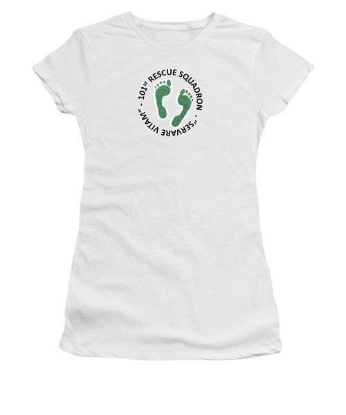 101st Rescue Squadron Women's T-Shirt (Junior Cut) by Julio Lopez