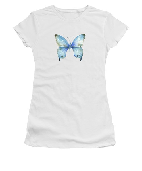 #109 Blue Diana Butterfly Women's T-Shirt (Athletic Fit)
