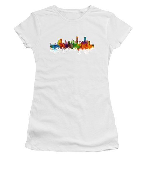 Boston Massachusetts Skyline Women's T-Shirt