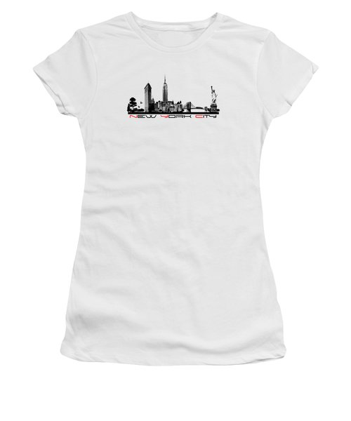 New York City Skyline  Women's T-Shirt (Athletic Fit)