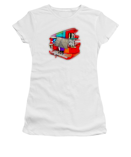 Piano Collection Women's T-Shirt (Junior Cut) by Marvin Blaine