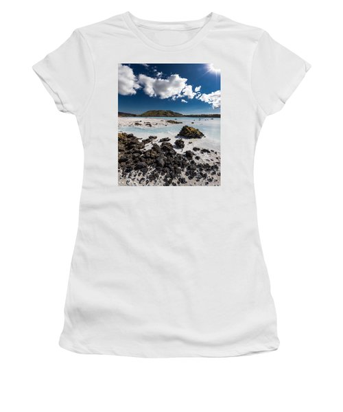 Silica Deposits In Water By The Women's T-Shirt