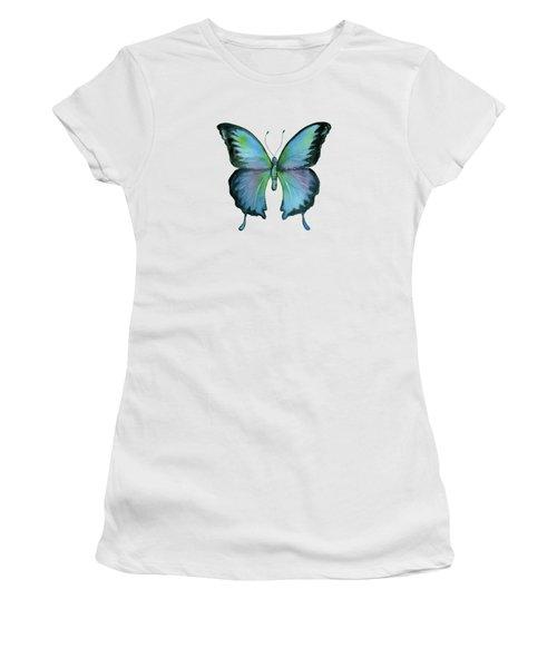 12 Blue Emperor Butterfly Women's T-Shirt