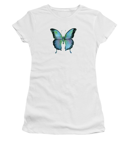 12 Blue Emperor Butterfly Women's T-Shirt