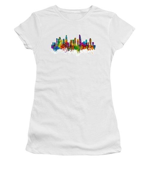Los Angeles California Skyline Women's T-Shirt (Athletic Fit)