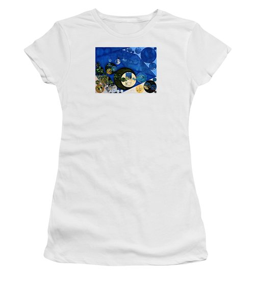 Abstract Painting - Dark Jungle Green Women's T-Shirt (Athletic Fit)