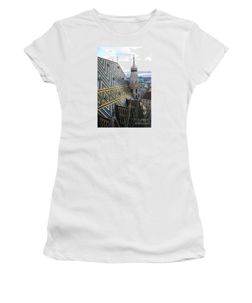 St Stephens Cathedral Vienna Women's T-Shirt (Junior Cut) by Angela Rath