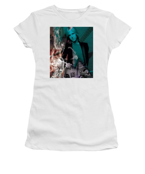 Women's T-Shirt (Athletic Fit) featuring the mixed media Tom Petty Collection by Marvin Blaine