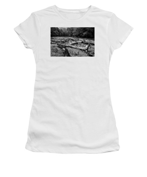 Women's T-Shirt (Junior Cut) featuring the photograph Williams River Summer by Thomas R Fletcher