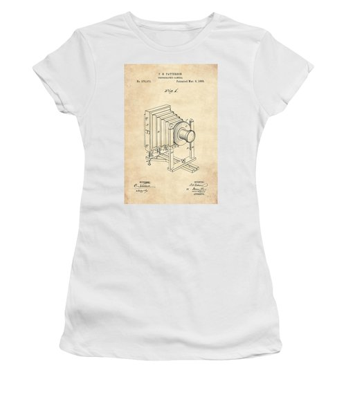 1888 Camera Us Patent Invention Drawing - Vintage Tan Women's T-Shirt