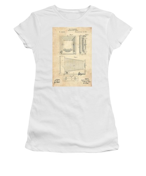 1891 Camera Us Patent Invention Drawing - Vintage Tan Women's T-Shirt